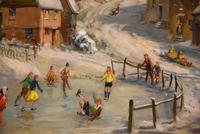 """Oil Painting by Max Hofler """"The Frozen Pond"""" (3 of 6)"""