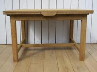 Antique Bleached Oak Extending Dining Table (6 of 10)