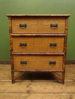 Antique British Colonial Bamboo Chest of Drawers (4 of 16)