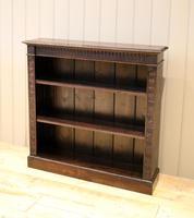 Dark Oak Open Bookcase (4 of 11)