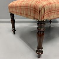 Newly Upholstered & Buttoned Centre Footstool (2 of 5)