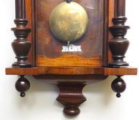 Great Antique German Twin Walnut 8-Day Mantel Clock Vienna Striking Wall Clock (7 of 11)