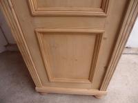 Lovely Antique Pine 1 Door Child's Wardrobe to wax / paint (4 of 9)