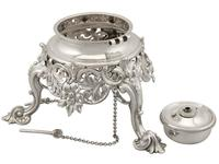 Sterling Silver Louis Spirit Kettle - Antique Victorian 1855 (8 of 18)