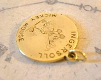 Pocket Watch Chain Ingersoll Mickey Mouse Fob 1930s Original Brass Fob (5 of 8)