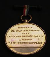 Commemorative Medal by Charles Trotin- Henri Giffard's Public Balloon Flights c.1878 (4 of 4)