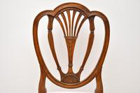Set of 6 Antique Mahogany Sheraton Style Dining Chairs (6 of 9)