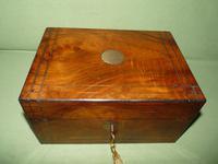 Inlaid Figured Walnut Jewellery – Work Box. Original Tray. C1870 (9 of 13)