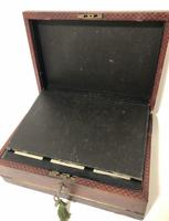 Antique Victorian Leather Writing Document Box (14 of 19)