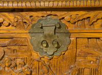 Early 20th Century Chinese Style Carved Camphorwood Chest (8 of 11)