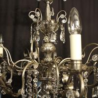 Italian Silver & Crystal Genoa 8 Light Chandelier (3 of 10)