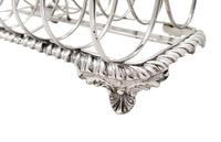 Large Antique William IV Sterling Silver Toast Rack 1835 (5 of 10)