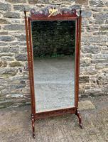 Antique Mahogany Cheval Mirror (18 of 18)