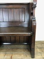 Carved Oak Antique Pew (5 of 11)