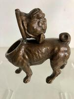 Antique Austrian Bronze Inkwell In The Form Of A Pug (5 of 8)