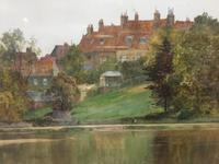 The Thames at Richmond -  Antique Watercolour by James Aumonier (2 of 4)