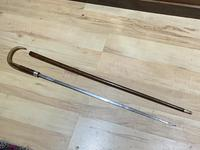 Gentleman's Walking Stick Sword Stick with Silver Collar Hallmarked Chester 1912 (12 of 25)