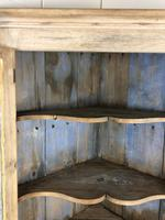 Victorian Stripped Pine Corner Cupboard with Glazed Top (5 of 11)