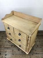 Victorian Antique Pine Chest of Drawers with Gallery Back (7 of 10)