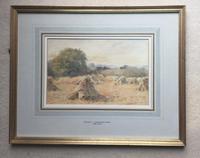 Wilmot Pilsbury Watercolour - Harvest at Dusk (2 of 2)