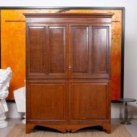 Oak Wardrobe Arts & Crafts Victorian 19th Century