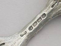 Victorian Cast Silver Caddy Spoon by George Adams, London, 1856 (6 of 10)