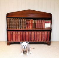 Edwardian Open Mahogany Bookcase c.1910 (10 of 12)
