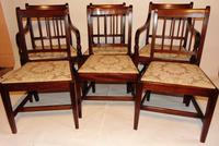 Set 6 Georgian mahogany dining chairs