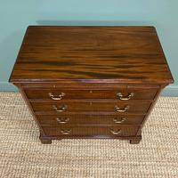 Unusual Small Edwardian Mahogany Antique Bachelors Chest (6 of 7)
