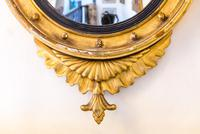 Regency Giltwood & Gesso Circular Convex Mirror (3 of 4)