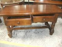 Solid Oak 2 Drawer Coffee Table (2 of 2)
