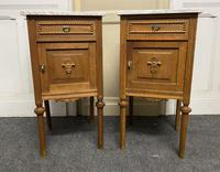 Pair of French Marble Top Bedside Cupboards (5 of 13)
