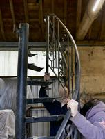 Unused Space Saver Iron Spiral Staircase with Hand Rails (10 of 12)