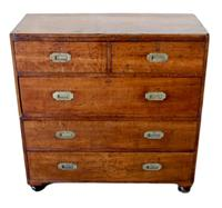 19th Century Oak Campaign Chest of Drawers (2 of 7)