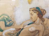 Exclusive Russian Symbolism Painting from Private Collection. #2 Leda with a Swan (5 of 6)