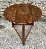 Antique Georgian Oak Cricket Table (11 of 15)