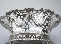 Extremely Good Solid Silver Pierced Basket / Bowl by Golds c.1899 (3 of 10)