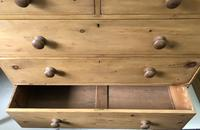 Large Stripped Pine Chest of Drawers (3 of 9)