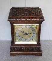 Solid Carved Oak Bracket Clock (11 of 11)