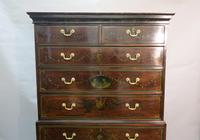 Georgian Mahogany Polychrome Painted Chest on Chest (2 of 12)