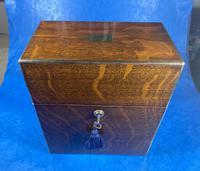 Victorian Brassbound Oak Decanter Box (6 of 20)