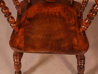 Victorian Broad Arm Windsor Chair Ash & Elm (9 of 9)