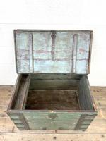 Distressed Painted Metal Bound Trunk (6 of 10)
