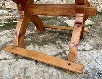 Antique Swedish Pine X-frame Trestle Table (10 of 21)