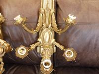 Pair of 5 branch wall lights height 3ft 3 inch brass (free shipping to mainland england) (7 of 11)