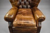 Large Brown Leather Arm Chair (5 of 8)