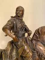 Large 19th Century French Patinated Spelter of 'Cavalier Arabe' (3 of 6)