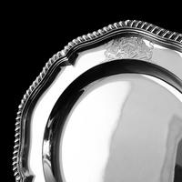 Antique Solid Silver Dish with Coat of Arms for Michael Bass, 1st Baron Burton - Garrard 1888 (16 of 21)