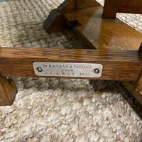 Unusual Pair of Edwardian Oak Drop Leaf Antique Sofa Tables (6 of 7)