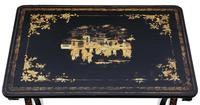 Victorian Chinoiserie Nest of Decorated Black Lacquer Tables (4 of 6)